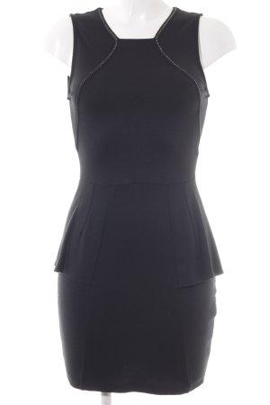 Zara Trafaluc Robe péplum noir élégant