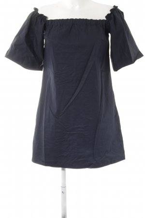 Zara Trafaluc schulterfreies Kleid dunkelblau Casual-Look