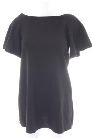 Zara Trafaluc Off the shoulder jurk zwart klassieke stijl