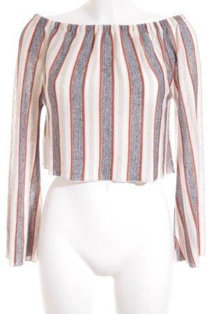 Zara Trafaluc schulterfreies Top Streifenmuster Street-Fashion-Look