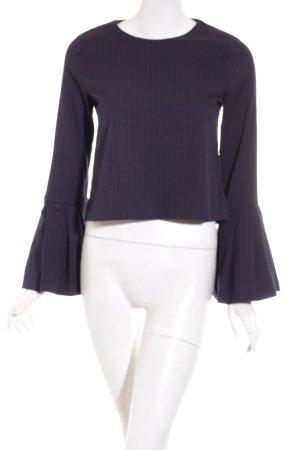 Zara Trafaluc Shirt dunkelblau-rot Nadelstreifen Elegant