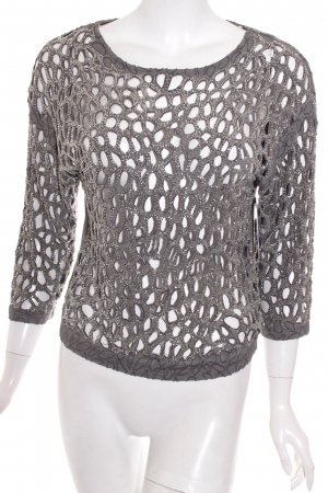 Zara Trafaluc Shirt grau Glitzer-Optik