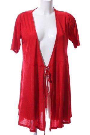 Zara Trafaluc Chaqueta estilo camisa rojo elegante