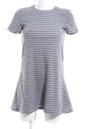Zara Trafaluc Shirtkleid hellgrau-schwarz Streifenmuster Casual-Look