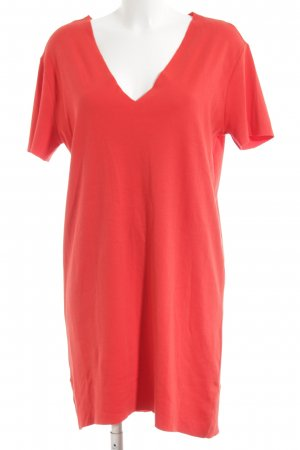 Zara Trafaluc Vestido estilo camisa rojo look casual