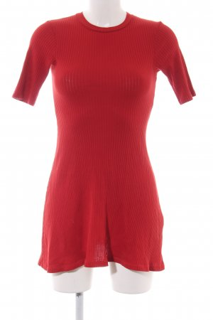 Zara Trafaluc Shirtkleid rot Casual-Look