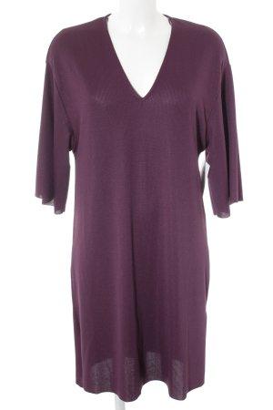 Zara Trafaluc Shirtkleid brombeerrot Webmuster Casual-Look