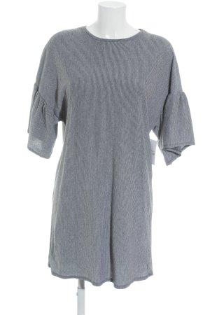 Zara Trafaluc Shirtkleid hellgrau-schwarz Streifenmuster minimalistischer Stil