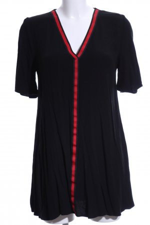 Zara Trafaluc Shirt Dress black-red striped pattern casual look