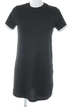 Zara Trafaluc Shirtkleid schwarz-weiß Casual-Look