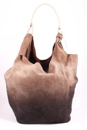Zara Trafaluc Shopper hellbraun-dunkelbraun Farbverlauf Urban-Look