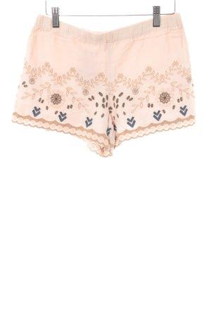 Zara Trafaluc Shorts apricot florales Muster Casual-Look