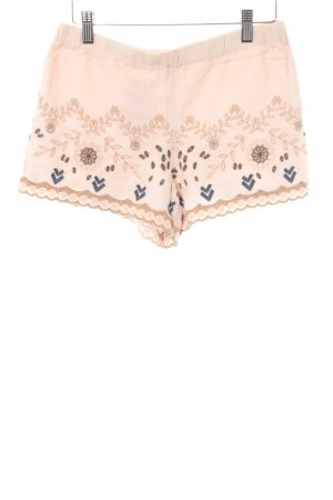 Zara Trafaluc Shorts apricot florales Muster Casual-Look