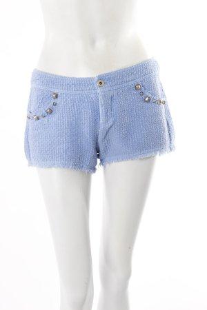 Zara Trafaluc Shorts blau mit Nieten