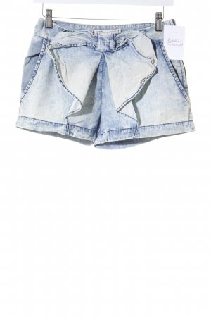 Zara Trafaluc Shorts creme-hellblau Used-Optik
