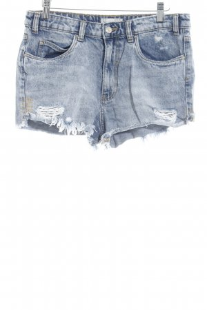 Zara Trafaluc Shorts azure casual look