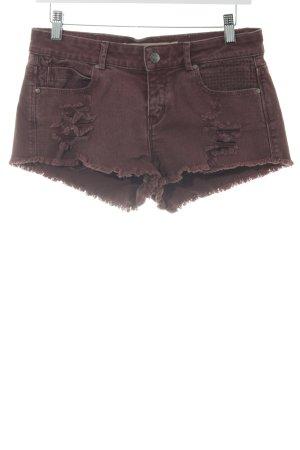 Zara Trafaluc Shorts karminrot-rostrot Webmuster Casual-Look