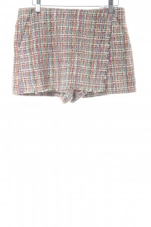 Zara Trafaluc Short motif à carreaux style simple