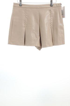 Zara Trafaluc Shorts nude-creme schlichter Stil