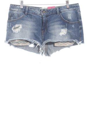 Zara Trafaluc Shorts stahlblau Casual-Look