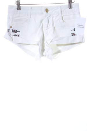 Zara Trafaluc Shorts weiß Destroy-Optik