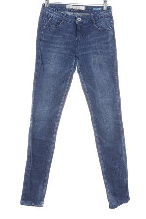 Zara Trafaluc Skinny Jeans blau Farbverlauf Casual-Look