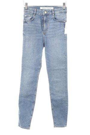 Zara Trafaluc Skinny Jeans blau Used-Optik
