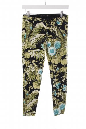 Zara Trafaluc Skinny Jeans Blumenmuster Zierreißverschluss