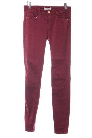 Zara Trafaluc Skinny Jeans bordeauxrot Casual-Look
