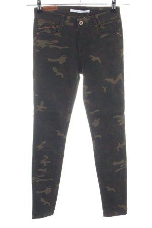 Zara Trafaluc Skinny Jeans Camouflagemuster Casual-Look