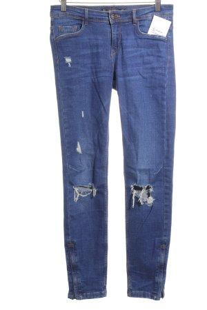 Zara Trafaluc Skinny Jeans dunkelblau Street-Fashion-Look