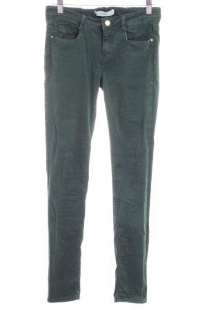 Zara Trafaluc Skinny Jeans dunkelgrün Casual-Look
