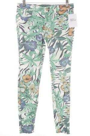 Zara Trafaluc Skinny Jeans florales Muster Casual-Look