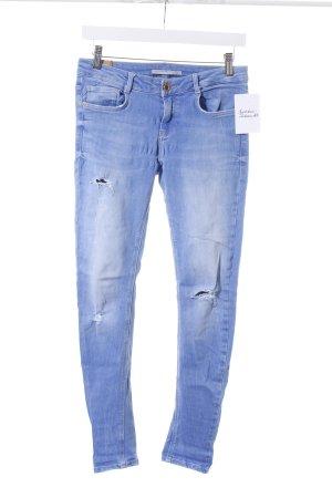 Zara Trafaluc Skinny Jeans hellblau Casual-Look
