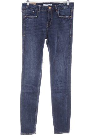 Zara Trafaluc Skinny Jeans light brown-dark blue jeans look
