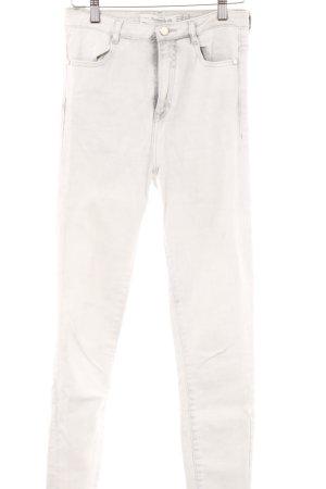 Zara Trafaluc Skinny Jeans hellgrau-wollweiß Casual-Look