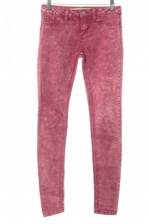 Zara Trafaluc Skinny Jeans hellrot-rot Casual-Look