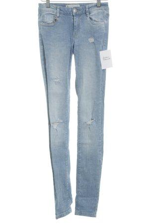 Zara Trafaluc Skinny Jeans himmelblau Casual-Look