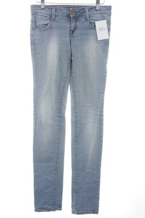 Zara Trafaluc Skinny Jeans himmelblau Washed-Optik