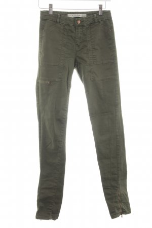 Zara Trafaluc Skinny jeans khaki casual uitstraling