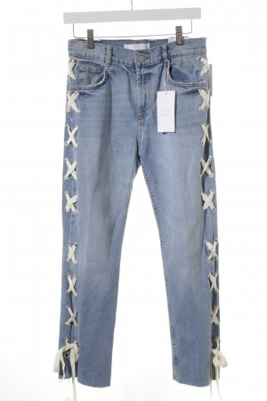 Zara Trafaluc Skinny Jeans kornblumenblau Street-Fashion-Look
