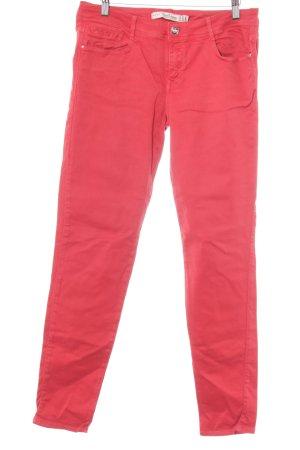 Zara Trafaluc Skinny Jeans rot Casual-Look