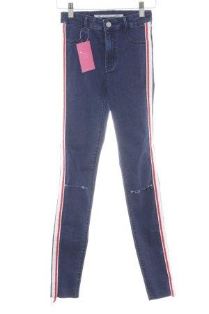 Zara Trafaluc Skinny Jeans Streifenmuster Casual-Look