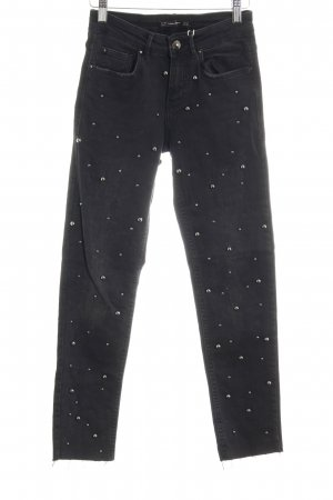 Zara Trafaluc Skinny Jeans taupe Destroy-Optik