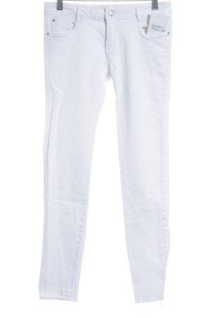 Zara Trafaluc Skinny Jeans weiß schlichter Stil