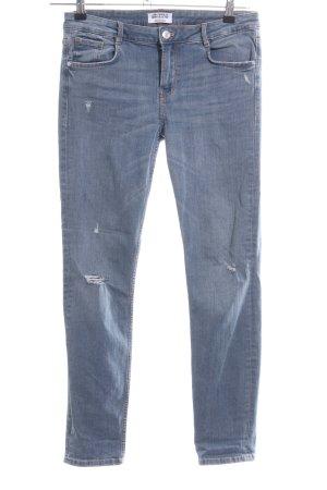Zara Trafaluc Slim Jeans blau Casual-Look