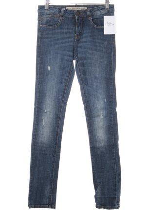 Zara Trafaluc Slim Jeans blau Street-Fashion-Look