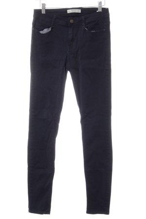 Zara Trafaluc Slim Jeans dunkelblau Casual-Look