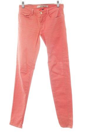 Zara Trafaluc Slim Jeans hellrot Casual-Look