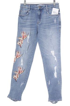 Zara Trafaluc Slim Jeans kornblumenblau Casual-Look